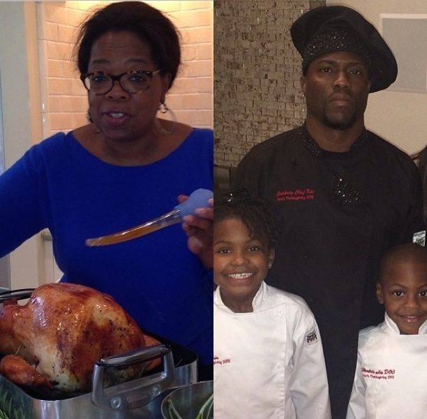 My Plate is Better Than Yours! Oprah, Kevin Hart, Mariah Carey & More Celebs Show Off Thanksgiving Dishes