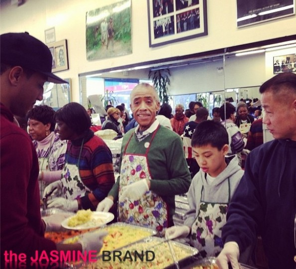 rev al sharpton-national action entwork-thanksgiving feed the homeless-the jasmine brand