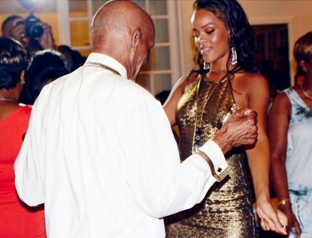 rihanna-throws grandfather 85th birthday-the jasmine brand