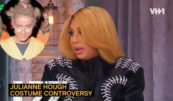 [VIDEO] Tamar Braxton Defends Julianne Hough's Halloween Black Face: 'It's Not That Serious!'