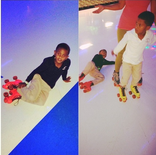 tameka raymonds sons-roller skating-the jasmine brand