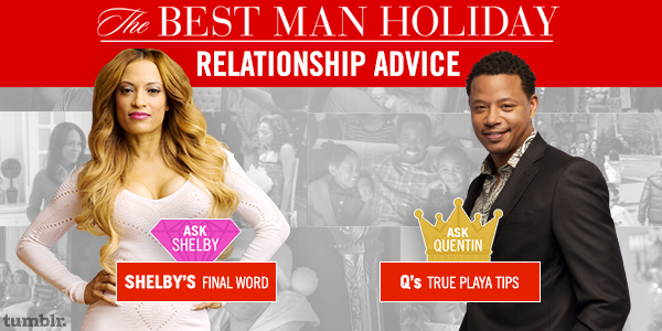 [Sponsored] The Best Man Holiday's Shelby and Quentin Give Relationship Advice