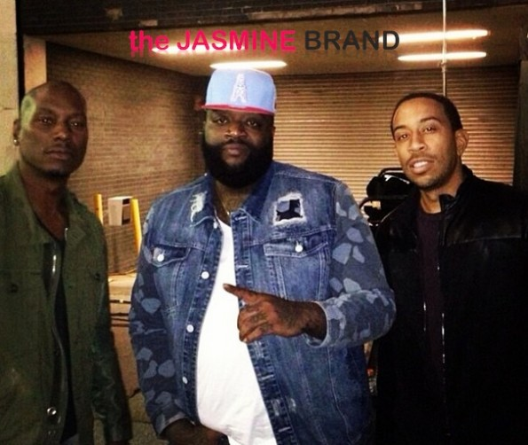 tyrese-rick ross-ludacris-fast furious 7-atlanta shoot-the jasmine brand