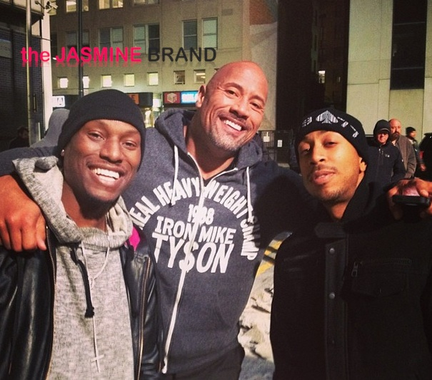 [Photos] Tyrese, Ludacris & The Rock Shoot 'Fast & Furious 7' in Atlanta