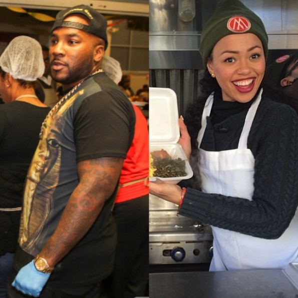 young jeezy-elle varner-give back-thanksgiving 2013-the jasmine brand