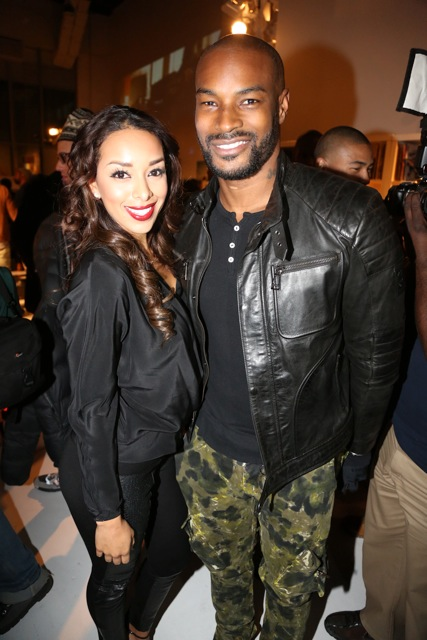 Gloria Govan of Basketball Wives LA and Tyson Beckford-ti book of kings-nyc release party 2013-the jasmine brand