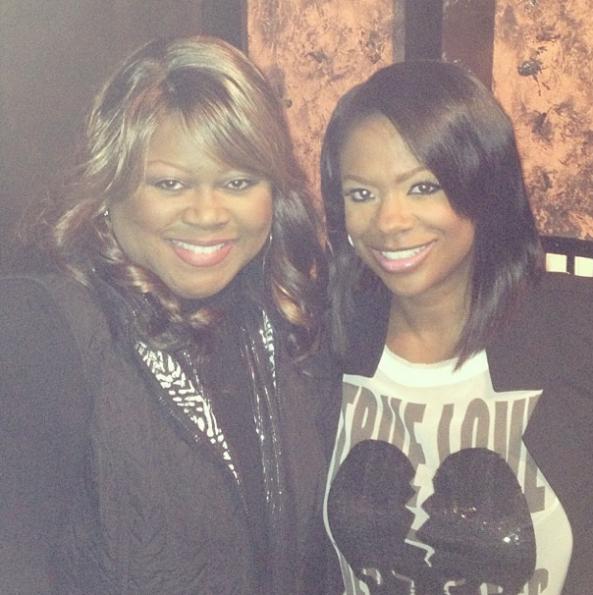 Kandi-Burruss-Shirley-Murdock-In Studio-The Jasmine Brand