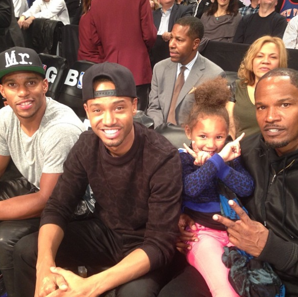 Terrence-J-Victor-Cruz-Jamie-Foxx-Hit-The-Knicks-Game-The Jasmine-Brand