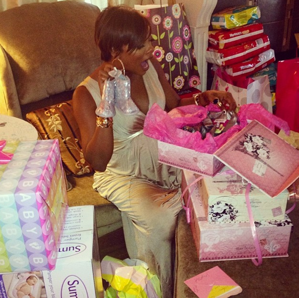 Eva Marcille, Kevin McCall & Friends Throw Baby Shower, Reveals Baby's Name