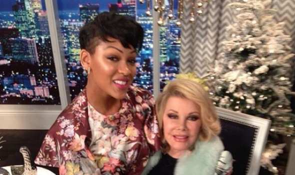 Celebrity Stalking: Meagan Good At 'Fashion Police', Oprah In Paris + Jamie Foxx's Mean Velvet Holiday Jacket