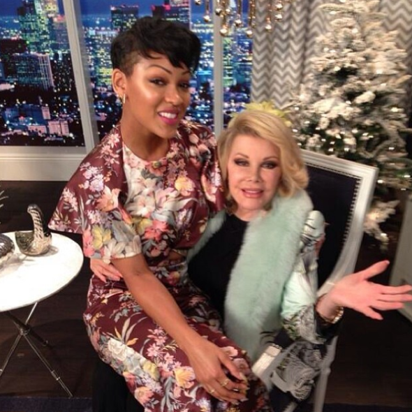 Celebrity Stalking: Meagan Good At 'Fashion Police', Oprah In Paris + Jamie Foxx's Mean Velvet Holiday Jacket