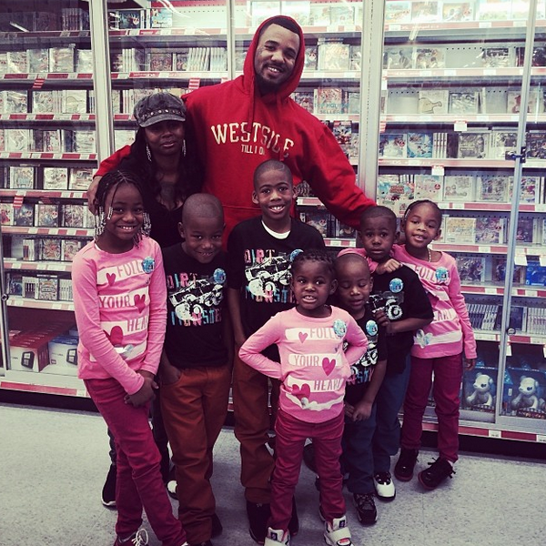 The Game Plays Santa, Spends $5k On the Kids of His Murdered Friend