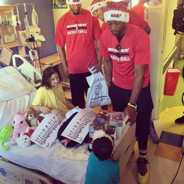 a-miami heat-deliver christmas gifts-visit hospital 2013-the jasmine brand