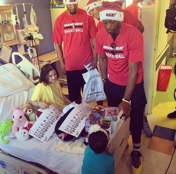 Doing The Most Good: LeBron James, Dwyane Wade & Miami Heat Bring Christmas Cheer to Children's Hospital