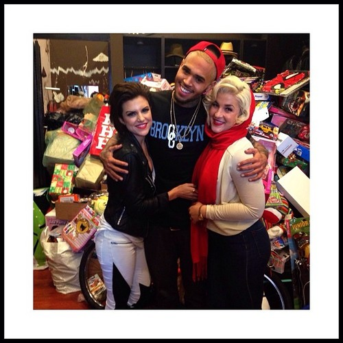 chris brown-la toy drive-brooklyn project-the jasmine brand