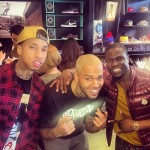 chris brown-tyga-kevin hart-temporarily released from rehab-la christmas toy drive-the jasmine brand