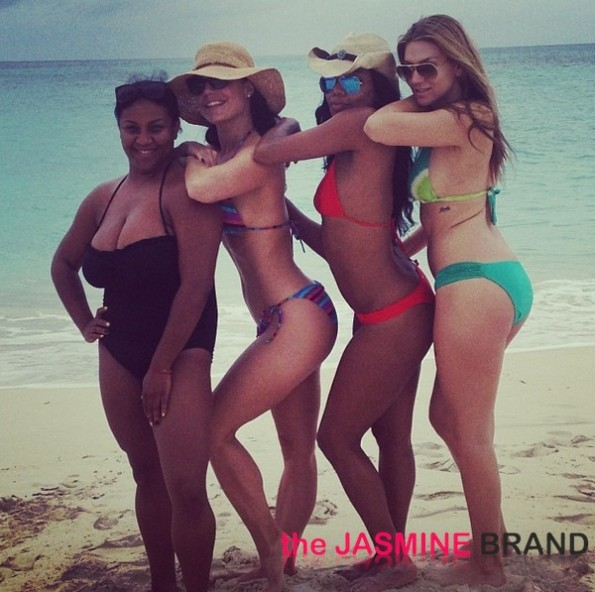 gabrielle union and friends-bikini beach 2013-the jasmine brand