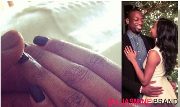 Dwyane Wade Proposes to Gabrielle At Holiday Christmas Party, See the Engagement Ring!
