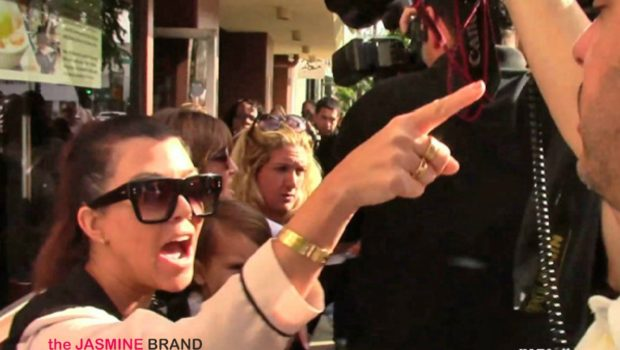 [WATCH] Kourtney Kardashian Gets Into Screaming Match With Paparazzi: 'Shut the F–k Up!'