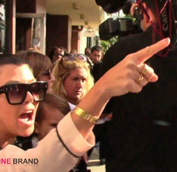 [WATCH] Kourtney Kardashian Gets Into Screaming Match With Paparazzi: 'Shut the F–k Up!'