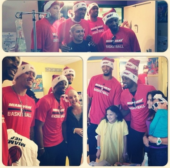 i-miami heat-deliver christmas gifts-visit hospital 2013-the jasmine brand