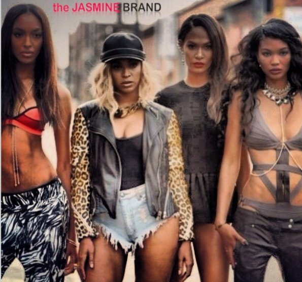 jourdan dunn-beyonce-joan smalls-chanel iman-beyonce-yonce video-victorias secret model-the jasmine brand
