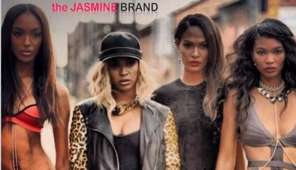 [Photos] Victoria's Secret Models Chanel Iman, Jourdan Dunn & Joan Smalls Beam After Appearing In Beyonce's 'YONCÉ' Video