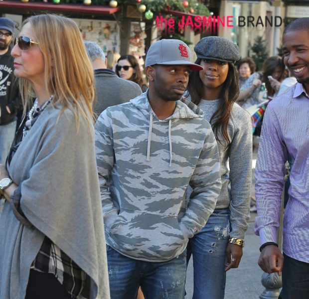 Cup Cakin' In Plain View: Kelly Rowland & Fiance Tim Witherspoon Shop At The Grove