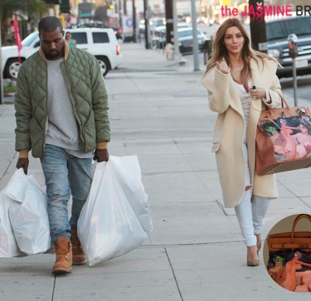[Photos] My Bag Is Better Than Yours! Kanye West Gifts Kim Kardashian With High Priced Hermès Purse