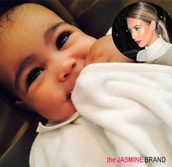 kim kardashian-denies waxing baby north eyebrows-the jasmine brand