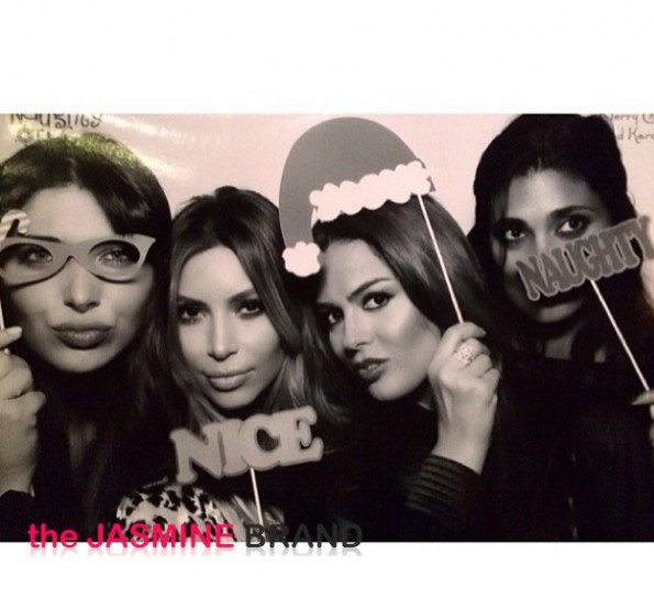 kim kardashian-rachel roy-photo booth-kris jenner-kardashian-christmas eve party 2013-the jasmine brand