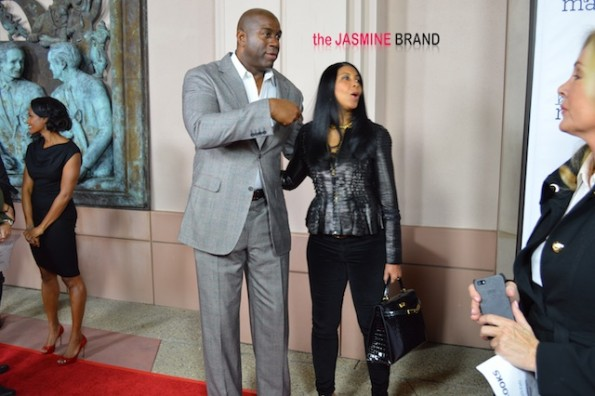 magic johnson-cookie johnson-la being mary jane premiere-the jasmine brand