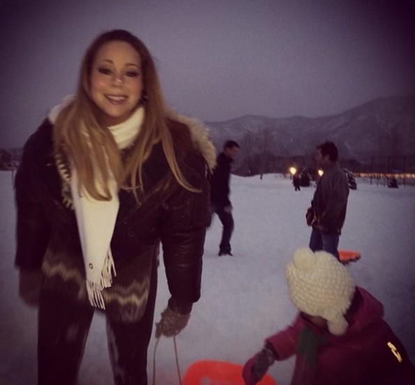 mariah carey-nick cannon-dem babies twins-aspen ski christmas 2013-the jasmine brand