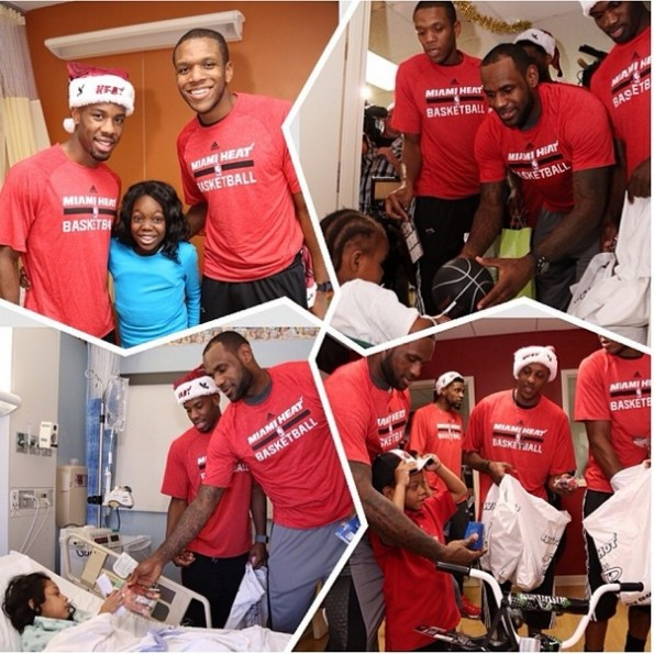 miami heat-deliver christmas gifts-visit hospital 2013-the jasmine brand
