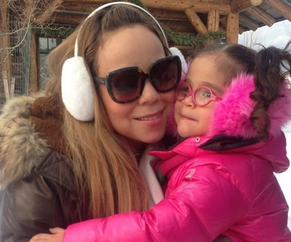 monroe-mariah carey-nick cannon-dem babies twins-aspen 2013-the jasmine brand