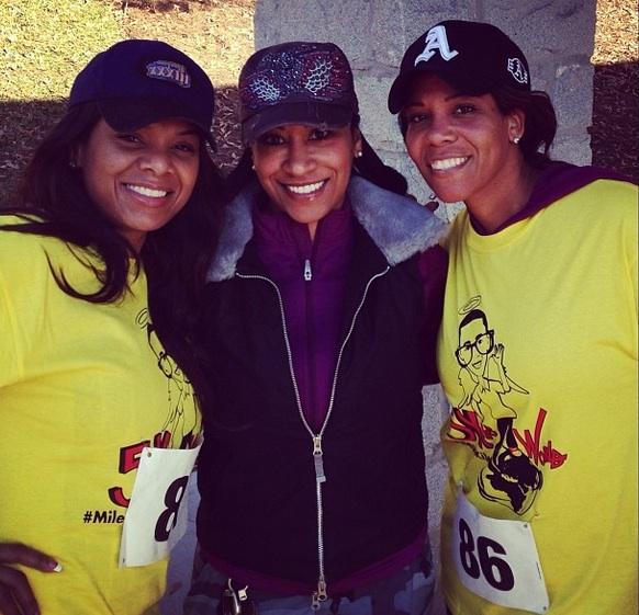 mynique smith-tameka raymond-The Give Thanks 5K run walk-kile glover memory-the jasmine brand