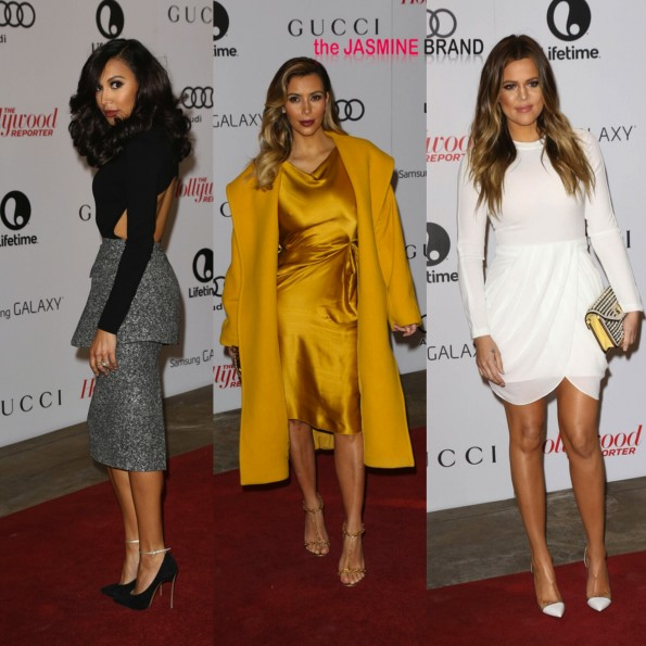 naya rivera-kim kardashian-khloe kardashian-The Hollywood Reporter's Women In Entertainment Breakfast Honoring Oprah Winfrey 2013-the jasmine brand