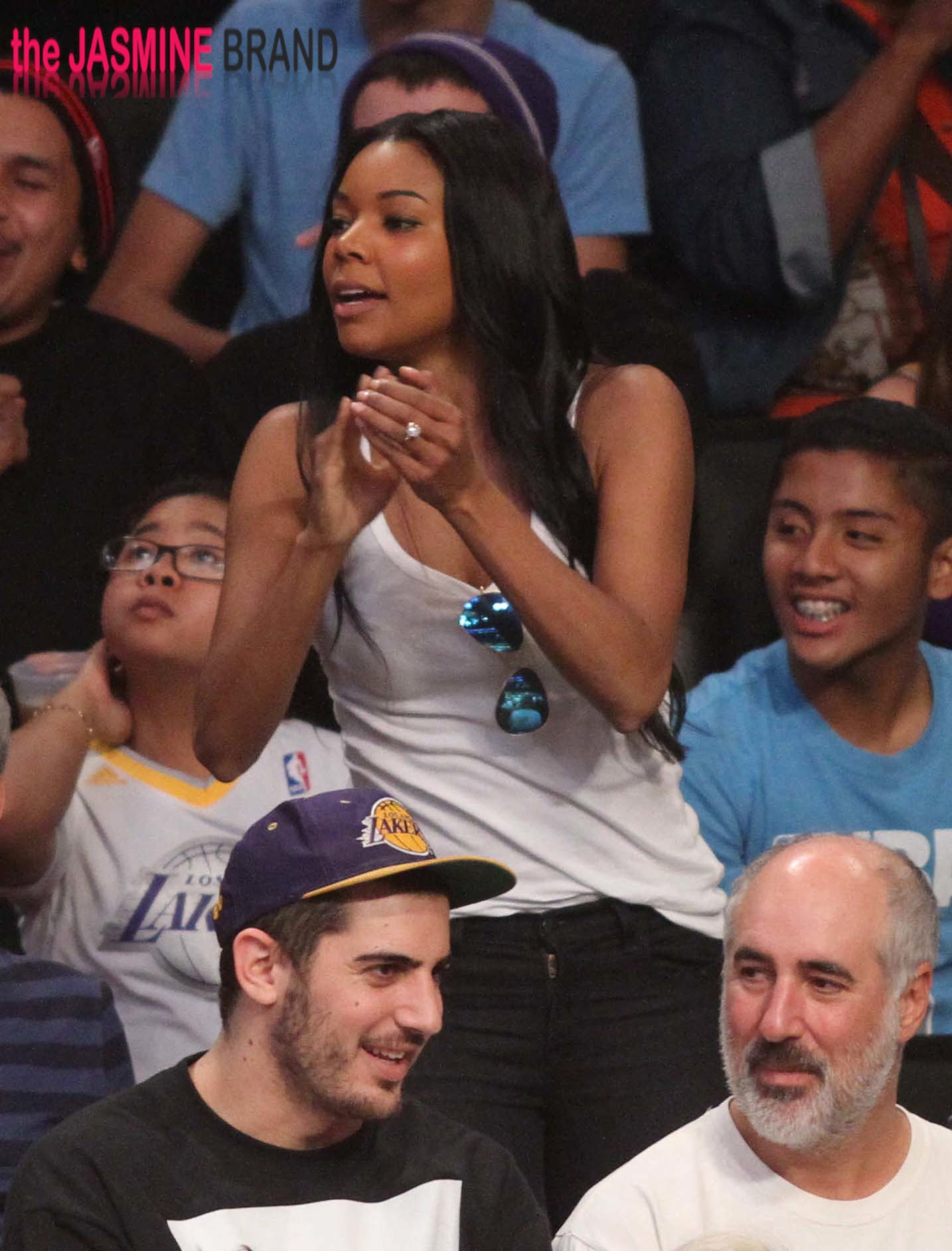 Gabrielle Union at the Lakers game