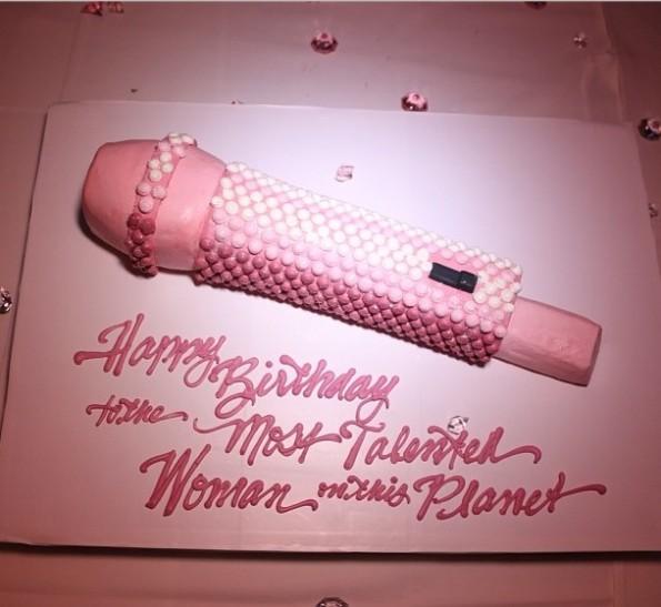 nicki minaj-birthday dinner party 2013-cake-the jasmine brand