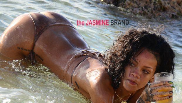 Bathing Beauty: Rihanna Splashes On Barbados Beach
