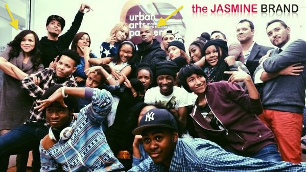 rosie perez-jamie foxx-teach ny students-the jasmine brand