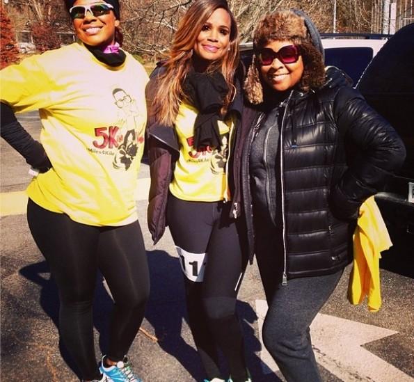 syleena johnson-monifah-tameka raymond-The Give Thanks 5K run walk-kile glover memory-the jasmine brand