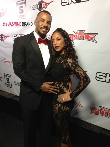 the game birthday dinner-fiance tiffney cambridge-red carpet-the jasmine brand