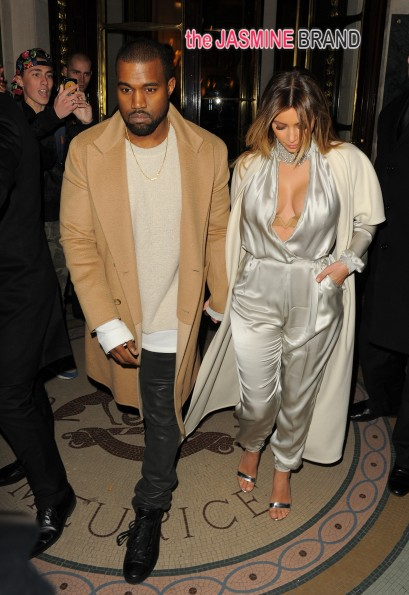 Kim Kardashian and Kanye West leaving Le Maurice Hotel