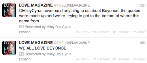 Miley-Cyrus-Denies-Dissing-Beyonce-Tweets-2-The Jasmine Brand