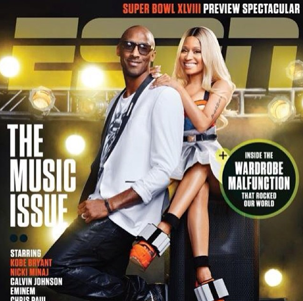 Nicki Minaj & Kobe Bryant Team Up For ESPN, Rapper Blasts Mag For Too Much Photoshop Trickery