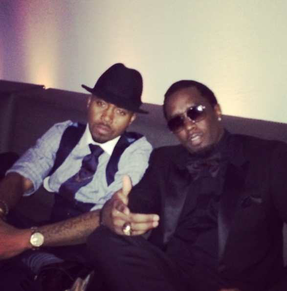 Nas-Diddy-Grammy-Afterparty-2014-The Jasmine Brand