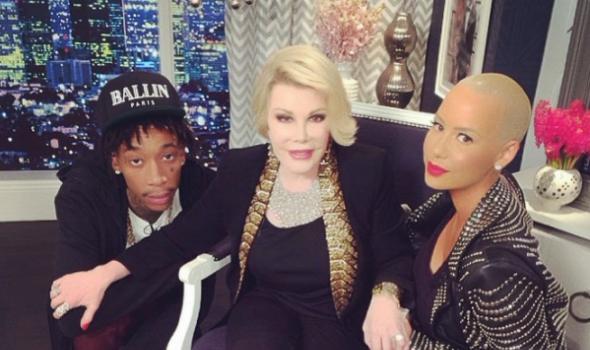 Amber Rose, Wiz Khalifa Invade Fashion Police