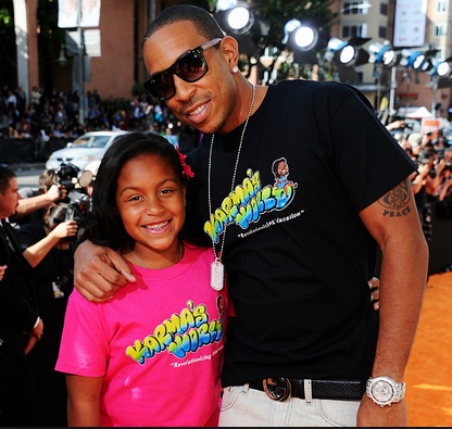 Photo of Ludacris & his  Daughter  Karma Bridges