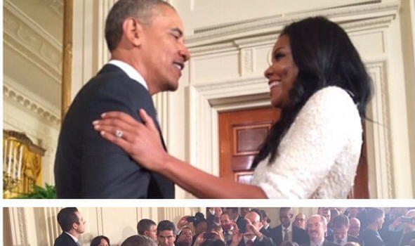 [Photos] Photos Basketball Wives & Fiancees Join Miami Heat at White House Visit